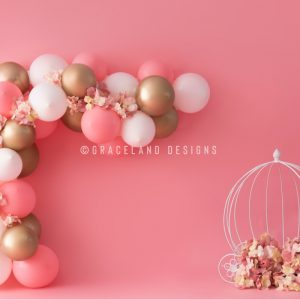 Pink, White and Gold Carriage by P'tit Lou Designs